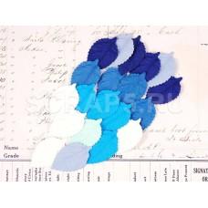 Листья, голубой микс, 20 шт