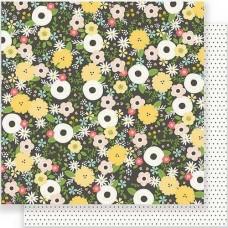 Бумага для скрапбукинга Chalkboard Floral 30,5 х 30,5