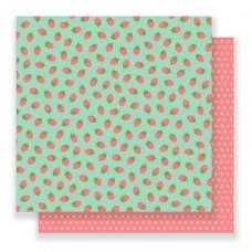 Бумага для скрапбукинга Strawberry Fields 30,5 х 30,5