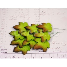 Листья клена, зеленые (10 шт)