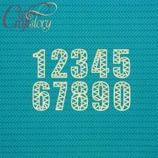 Деревянный чипборд Цифры зигзаг