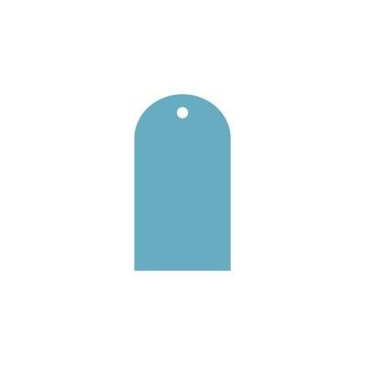 Тег полукруг (пластик) 6*11см 5шт