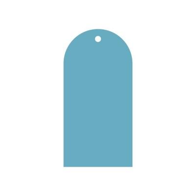 Тег полукруг (пластик) 8*16см 5шт