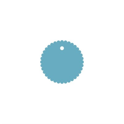 Тег ажурный круг (пластик) 8см 5шт