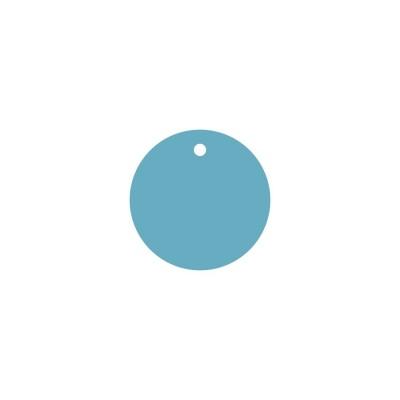 Тег круг (пластик) 8см 5шт