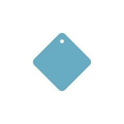 Тег квадрат (пластик) 8см 5шт