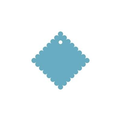 Тег ажурный квадрат (пластик) 8см 5шт