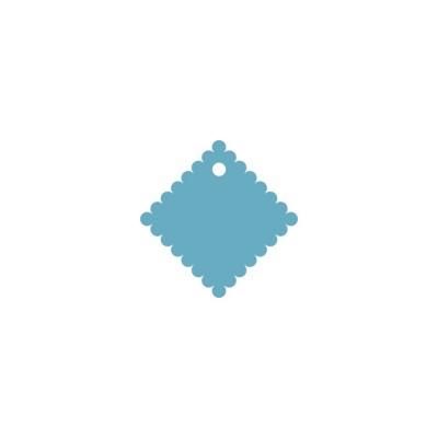 Тег ажурный квадрат (пластик) 6см 5шт