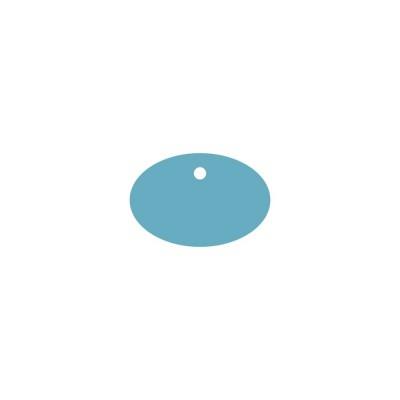 Тег овал горизонтальный (пластик) 8*5,4см 5шт