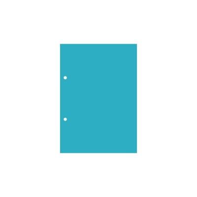 Пластик А5 прозрачный вертикальный (2 отверстия) 3шт.