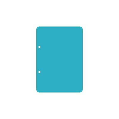 Пластик А5 прозрачный вертикальный скругленные углы (2 отверстия) 3шт.