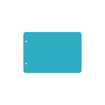 Пластик А5 прозрачный горизонтальный скругленные углы (2 отверстия) 3шт.