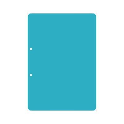 Пластик А4 прозрачный вертикальный скругленные углы (2 отверстия) 3шт.