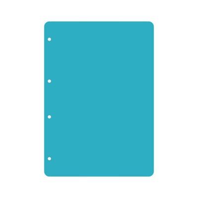 Пластик А4 прозрачный вертикальный скругленные углы (4 отверстия) 3шт.