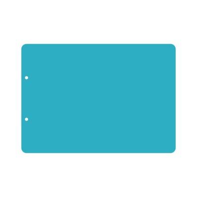 Пластик А4 прозрачный горизонтальный скругленные углы (2 отверстия) 3шт.