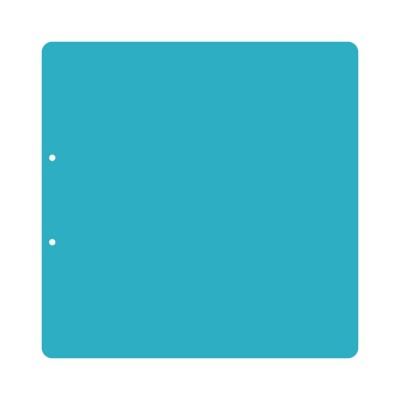 Пластик 30 х 30 см прозрачный скругленные углы (2 отверстия) 3шт.