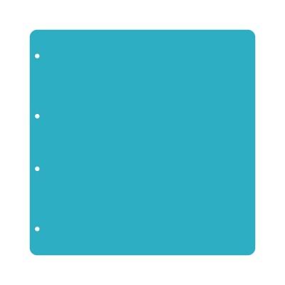 Пластик 30 х 30 см прозрачный скругленные углы (4 отверстия) 3шт.