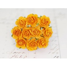 Розы 2 см, ярко-оранжевые (10 шт)