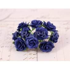 Розы, 2 см, темно-синие, 10 шт