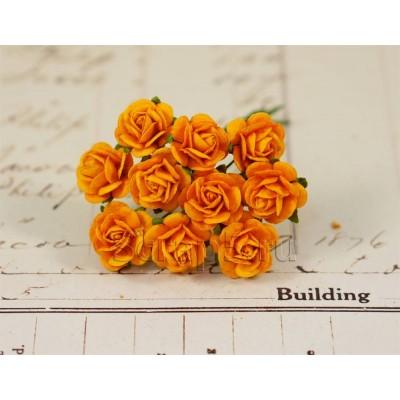 Розы 1,5 см, оранжевые (10 шт)
