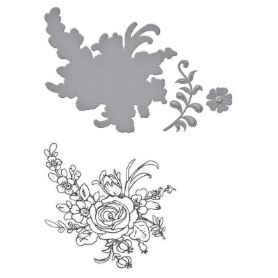 Набор ножей и штампов Stamp/Die Set - Flower Bouquet