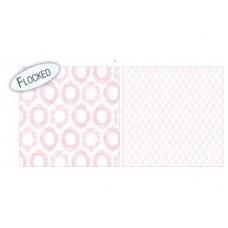 Бумага для скрапбукинга Timeless Pink Frames Flock