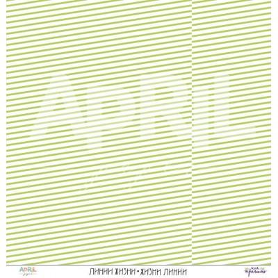 Бумага для скрапбукинга Линии жизни 30,5 х 30,5