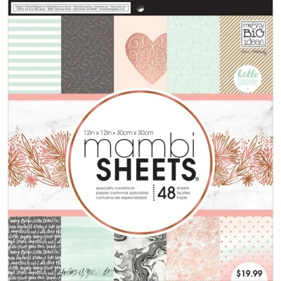 Набор бумаги Mambi Sheets - Rose Marble 30см х 30см (?)