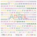 Бумага для скрапбукинга Алфавит пионы 30,5 х 30,5