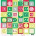 Бумага для скрапбукинга 30,5 х 30,5 см Зимние Каникулы Дни