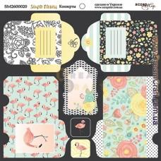 Бумага для скрапбукинга - Конверты Simple Flowers 20 x 20