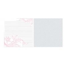 Бумага для скрапбукинга Timeless Pink Journal Flock