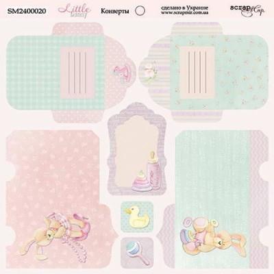 Бумага для скрапбукинга - Конверты Little bunny 20 x 20