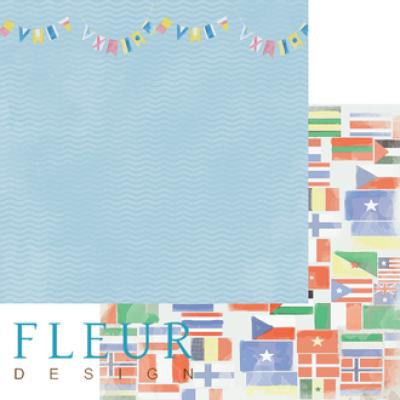Бумага для скрапбукинга Флаги 30,5 х 30,5