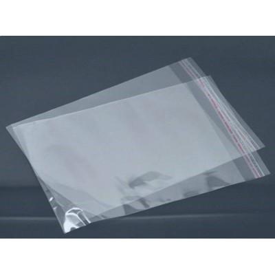 Пакет со скотчем прозрачный (10 шт) 22 х 30 см