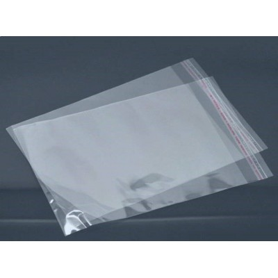 Пакет со скотчем прозрачный (10 шт) 16 х 26