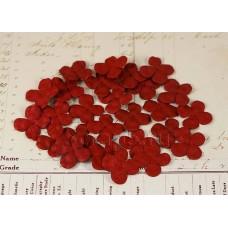 Лепестки гортензии бордовые, 3 см, 20 шт