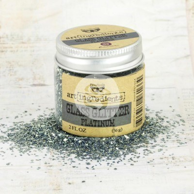 Стеклянный глиттер Art Ingredients — Glass Glitter Platinum
