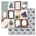 Бумага для скрапбукинга Новогоднее счастье - Карточки 30,5 х 30,5