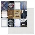 Бумага для скрапбукинга Идеальный мужчина - Карточки 30,5 х 30,5