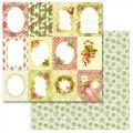 Бумага для скрапбукинга Новогодняя рапсодия - Карточки 30,5 х 30,5