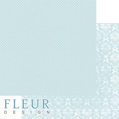 Бумага для скрапбукинга Шебби Шик Базовая 2.0. Утренний аквамарин 30,5х30,5 см