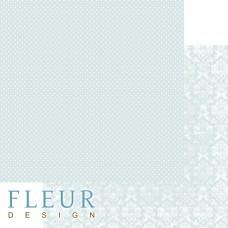 Бумага для скрапбукинга Шебби Шик Базовая 2.0. Морской зеленый 30,5х30,5 см