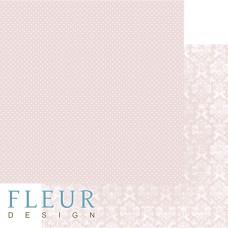 Бумага для скрапбукинга Шебби Шик Базовая 2.0. Светлый коралловый 30,5х30,5 см