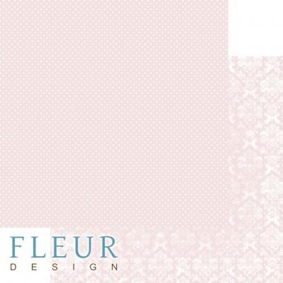 Бумага для скрапбукинга Шебби Шик Базовая 2.0. Ванильно-розовый 30,5х30,5 см