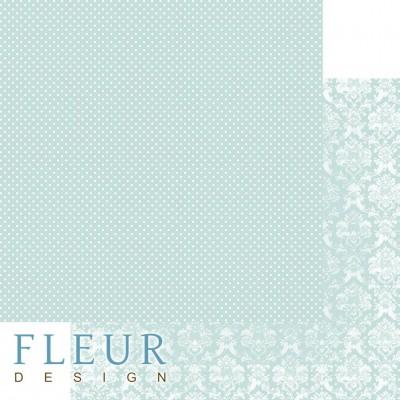 Бумага для скрапбукинга Шебби Шик Базовая 2.0. Сочный мятный 30,5х30,5 см