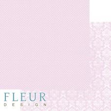 Бумага для скрапбукинга Шебби Шик Базовая 2.0. Нежный розовый 30,5х30,5 см