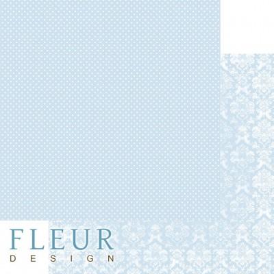 Бумага для скрапбукинга Шебби Шик Базовая 2.0. Небесный голубой 30,5х30,5 см