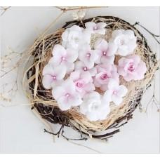 Набор цветов Гортензии и розы, розовый