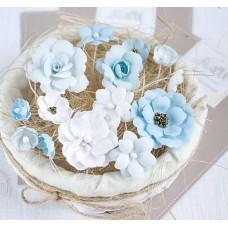 Набор цветов Голубой микс